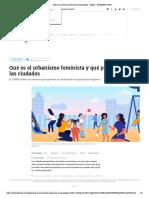 Qué es el urbanismo feminista y qué propone