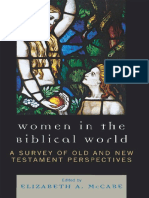 McCabe, Elizabeth a. - Women in the Biblical World _ a Survey of Old and New Testament Perspectives. [Vol. 1]-University Press of America (2009)