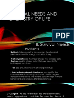 Survival Needs and Chemistry of Life