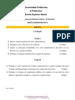 i Avaliação de Direito Administrativos II. (1)