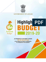 Budget Highlights 2019 20