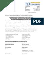 Datasheet Roughness Tester Hommel Etamic w5