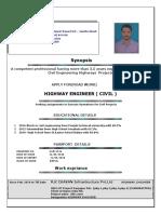 Pankaj Singh Highway Engineer Resume