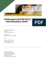 Deutsche Gold Manufaktur GmbH DGM GOLD Erfahrungen