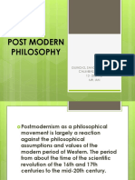 Post Modern Philosophy Report 2 1