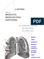 GS Bronchial Asthma Bronchiectasis Emphysema