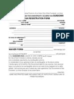Sundown Fest Registration Form and Waiver