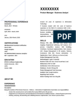 Sample IT business analyst resume
