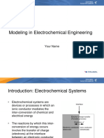 Modeling in Electrochemical Engineering