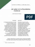 ELSENTIDO DEL SABER EN LA ESCOLASTICA MEDIEVAL.pdf