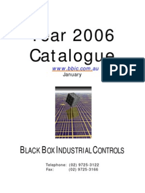 Black Box Industrial Controls Catalogue 2005 | Reliability