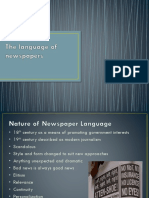 The Language of Newspapers2