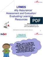 Quality Assurance - Evaluation of Learning Resources
