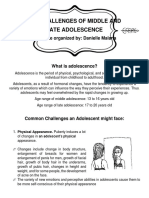 The Challenges of Middle and Late Adolescence