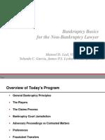Bankruptcy Basics Presentation