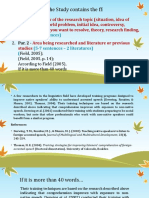 Background of the Study to CoFramework