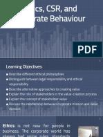 Ethics, CSR, And Corporate Behavior