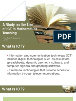 A Study on the Use of ICT in Mathematics Teaching