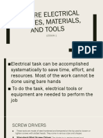 Prepare Electrical Supplies, Materials, And Tools