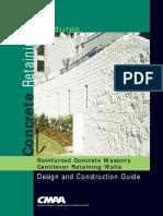 Concrete Masonry Retaining Structures