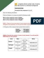 6.2 Empirical Formula