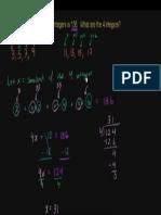 Consecutive Odd Integers