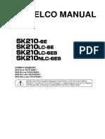 Kobelco New Manual Sk210