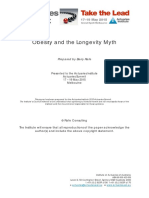 Obesity and the Longevity Myth