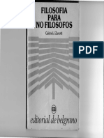 1.- Filosofía Para No Filósofos. Zanotti Gabriel.