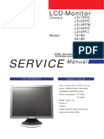 SERVICE Manual for 761BF, 961BF, 961BW, 961BG, 961GW
