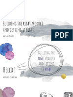 Maryam Tohidi_ Building the right product  and getting it right