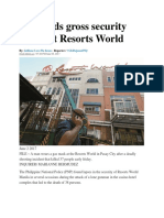 PNP Finds Gross Security Lapses at Resorts World