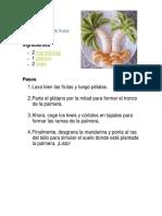 Palmera Tropical de Frutas