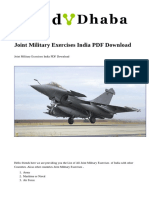 Joint Military Exercises India PDF Download(1)