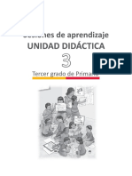 Sesiones Rutas de Aprendizaje UNIDAD 3 TERCER GRADO
