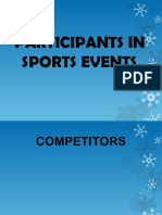 Participants in Sports Events