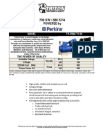 880 KVA Perkins Diesel Generator Set - Non EPA - 50Hz TP-P880-T1-50 - Updated-1
