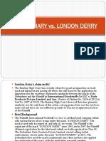 LONDON DIARY vs London Derry