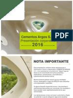 Presentación Corporativa Cementos Argos_Sept 2016 v2