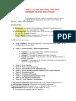 Esquema Constitucion Española de 1978