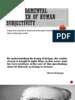 The Fundamental Character of Human Subjectivity