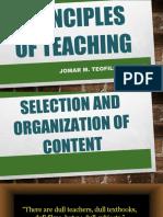 Principles of Teaching - Part 1