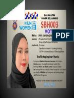 Profile Nur Elya Syaqiren Idiris - SBH003