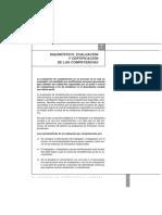 DIAGNOSTICO EVALUACION Y CERTIFICACION DE LAS COMPETENCIAS