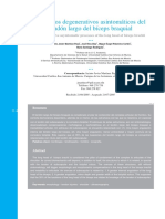 Procesos degenerativos asintomáticos del tendón largo del bíceps braquial