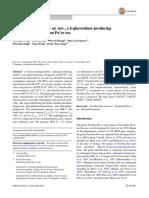 (2015) Paenibacilluspuernese Sp. Nov., A Β-glucosidase-producing Bacterium Isolated From Pu'Er Tea