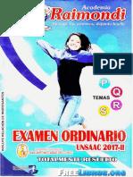 Solucionario del Examen de Admision Raymondi UNSAAC Cusco 2017 II