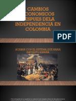 Cambios Economicos Despues Dela Independencia en Colombia