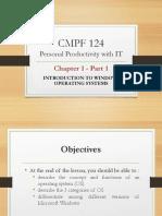 CMPF124 Chap 1 - Intro to Windows OS Pt 1