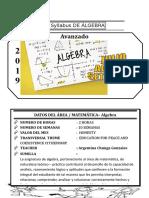 Syllabus de Algebra Avanzado Del III Bimestre